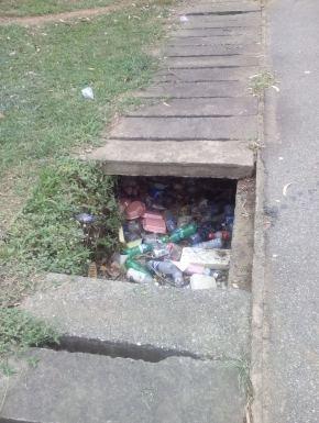 drainage blocked