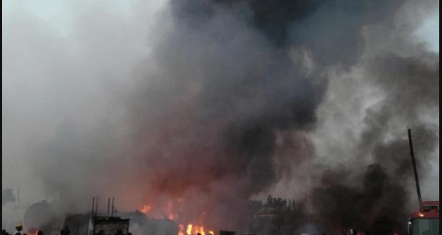 Urban market fire