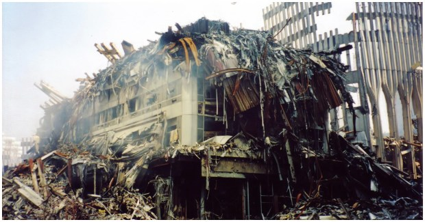 The remains of the world trade centre