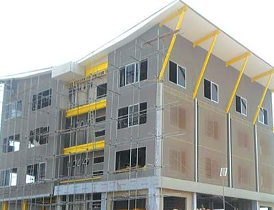 The energy efficient office complex under construction in Lagos