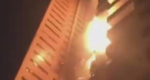 Fire Engulfs Residential Towers In Dubai