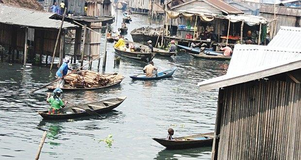 living in a slum area