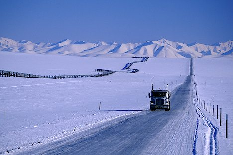 Lonely Truck in the Arctic