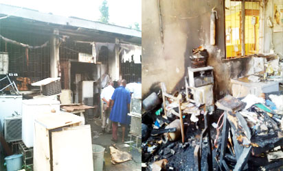 Fire engulfs engineering section of Igbobi Hospital