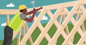 The time it takes to build a house