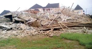 Three-storey building under construction collapses in Owerri
