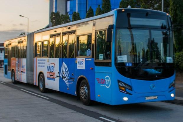 Lagos transportation BRT bus -