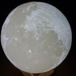 月のランプ[月のLEDライト・3Dプリンター製]