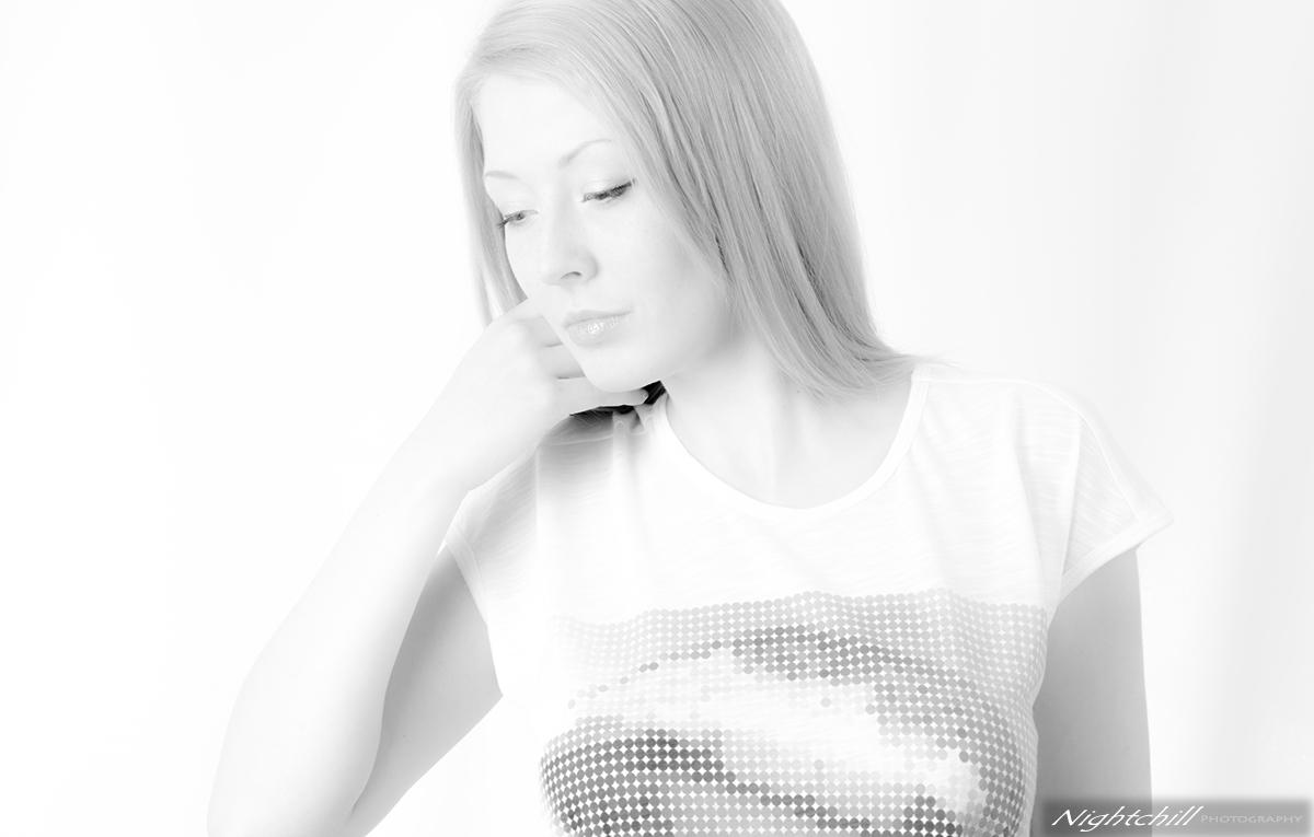 черно бяла фотография портрет
