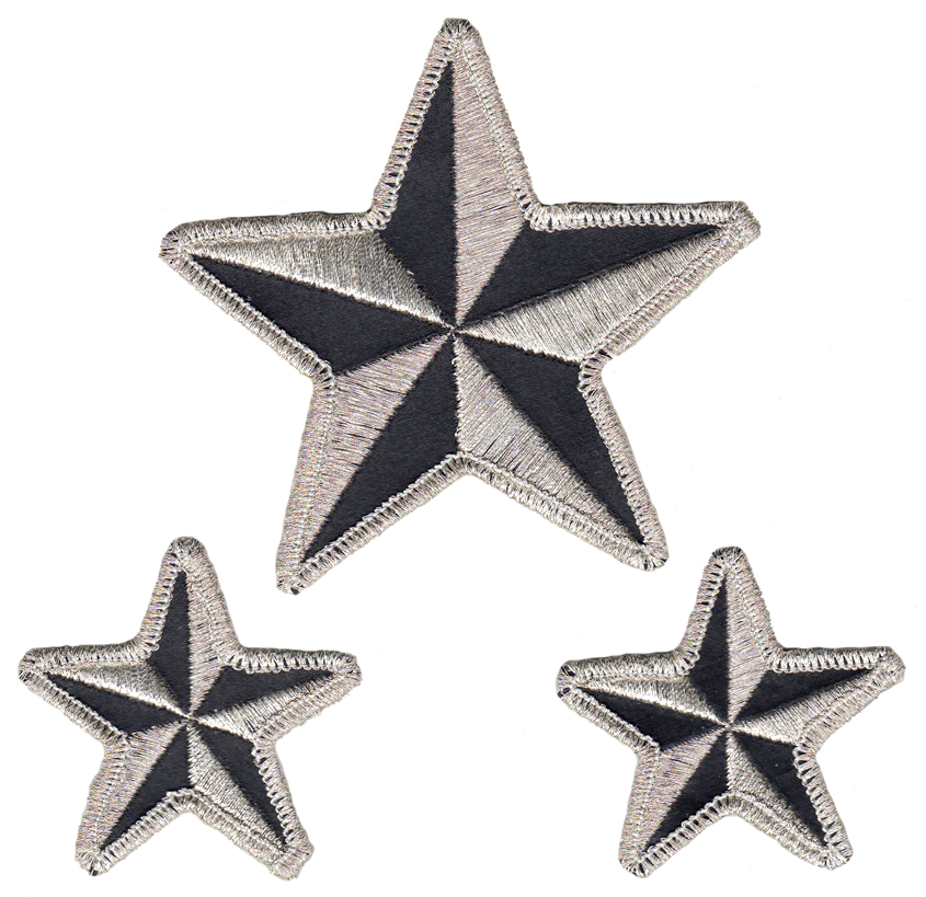 Nautical Stars reflective embroidered patch. Nightfire Patches®
