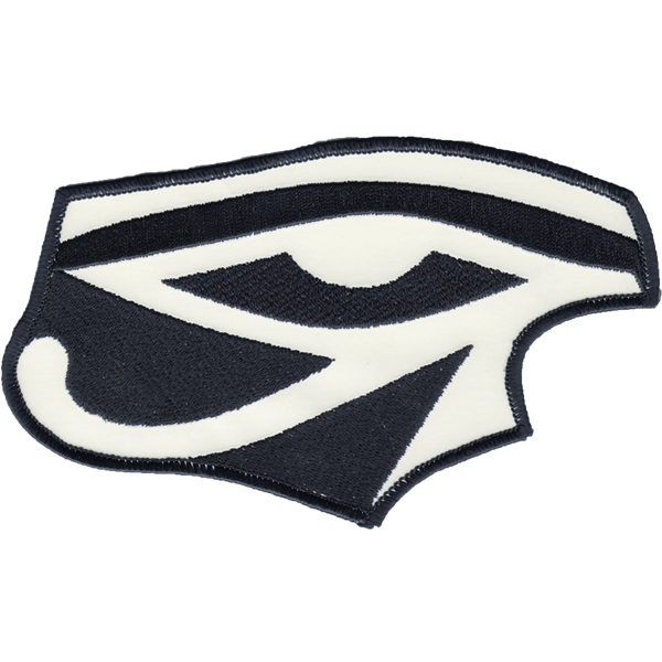Right Eye of Ra reflective embroidered patch. Nightfire Patches®