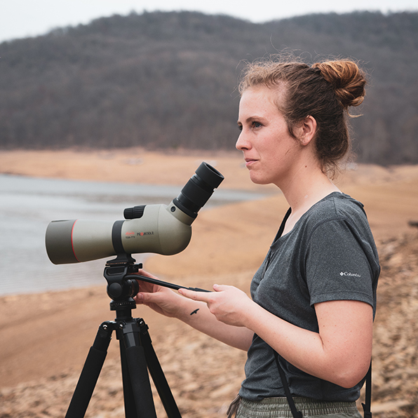 Mollee, Kowa ambassador, TSN-773 spotting scope