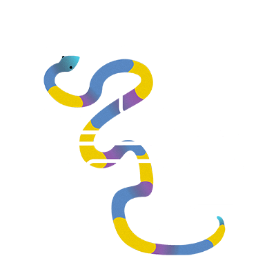 Small Business Icon with Snake