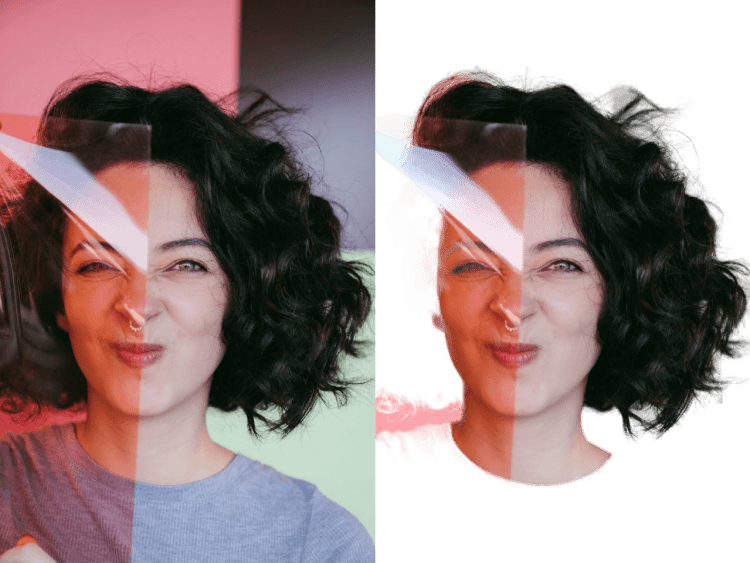 Background Remover Curly Haired Woman