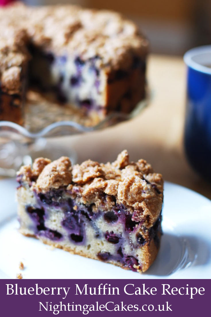 """Featured image for """"Blueberry Muffin Cake recipe with crumble topping"""""""