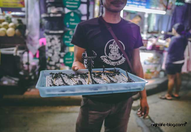 Khaosan Road Bangkok Nachtmarkt