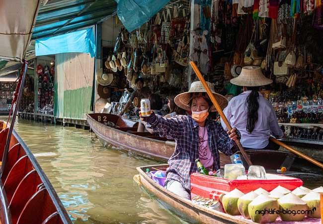 Schwimmender Markt Bangkok