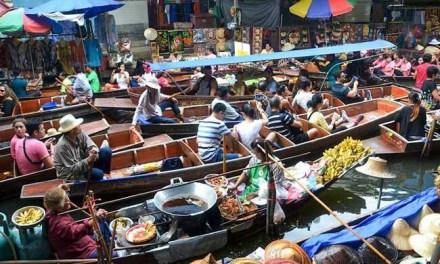 Schwimmender Markt Bangkok Damnoen Saduak