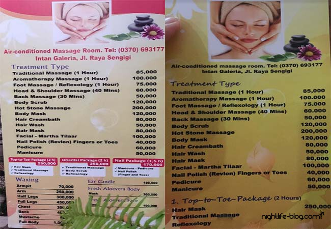 Massage Lombok Preise