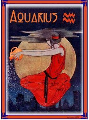 Aquarius - falling water