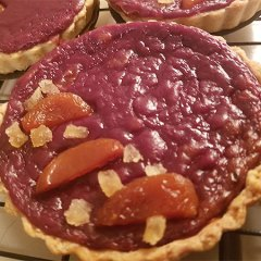 vegan purple sweet potato tart