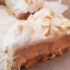 vegan caramelized banana cream pie