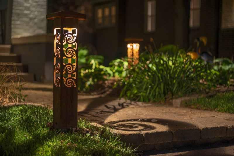 outdoor lighting fixtures bollard