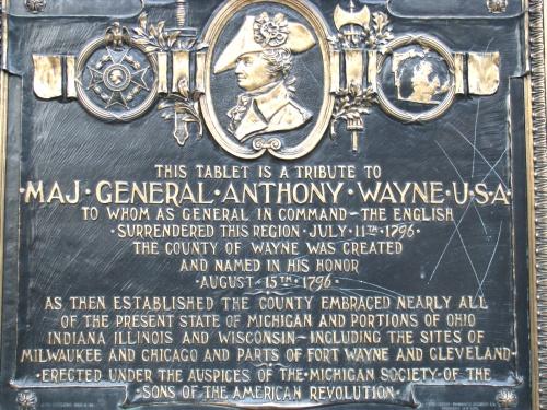 anthony wayne plaque