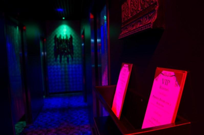 Night Trips VIP Room Menu