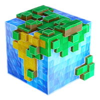 Worldcraft 3d Exploração y Block Craft Jogo Apk Mod god mod e hit kill
