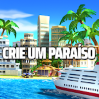 Tropic Paradise Sim Town Building City Game mod apk