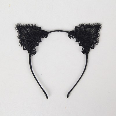 Black Cute Cat Ear Headband