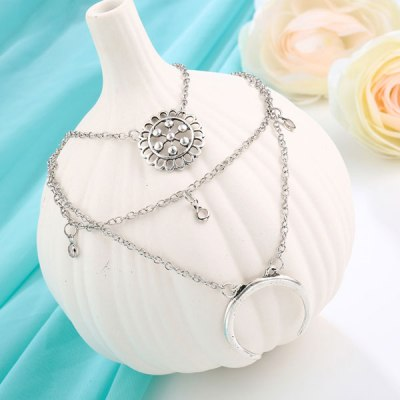 Meyfflin Silver Color Choker Necklaces