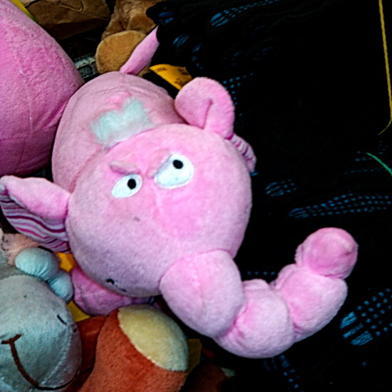 Злой розовый слоник