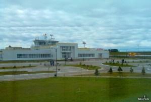 Аэропорт Игарка из окна гостиницы