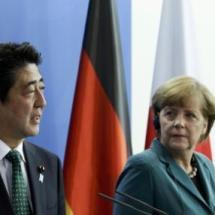 Abe Besucht Merkel, Freihandelsabkommen ist wichtiges Thema