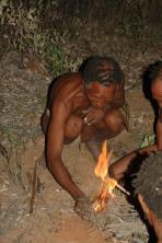 Bushmen in the Kalahari Desert