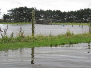 Low lying areas flooded