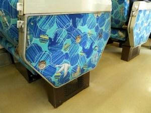 キハ54系500番代・座席のモケット柄