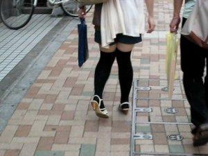 japonaises marchent en canard