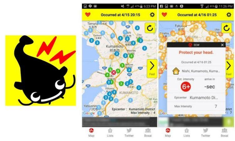 Yurekuru call, l'application pour prévenir des séismes au Japon