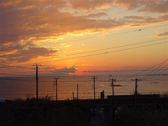 Coucher de soleil au Japon