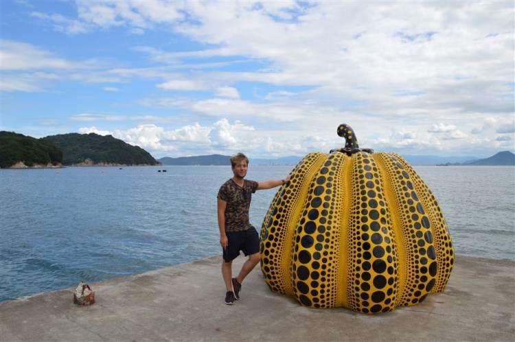 La fameuse Pumpkin de Yayoi Kusama