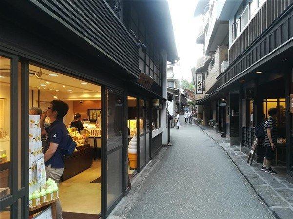 Une rue à Kurokawa Onsen