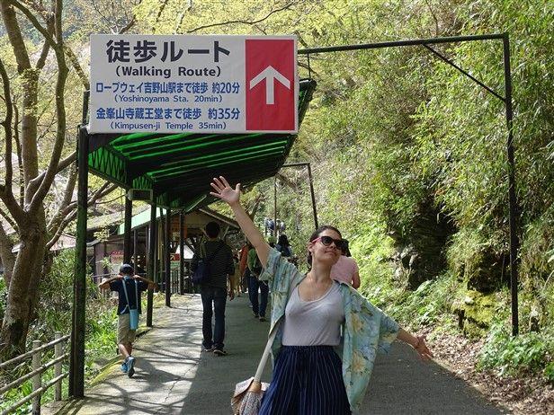 La walking route du mont yoshino