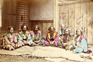 Old Photo of Ainu People in Japan