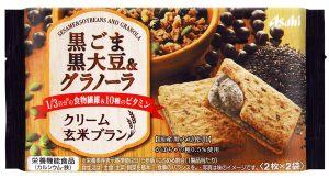 asahi balance up foods sesame & soybeans and granola healthy anytime snack