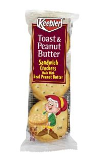 keebler peanut butter cracker sandwich pack