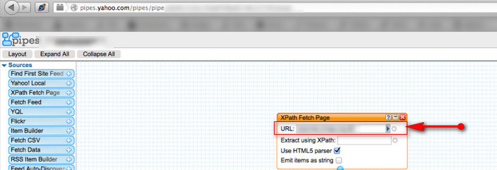 Yahoo pipes site (URL field may be injectable to SSRF)