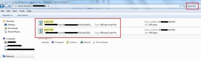 Figure 6: Local admin password in VBS file